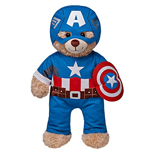 Build a Bear Workshop Captain America Teddy Bear Costume 3 pc. build a bear workshop promise pets pink dog leash