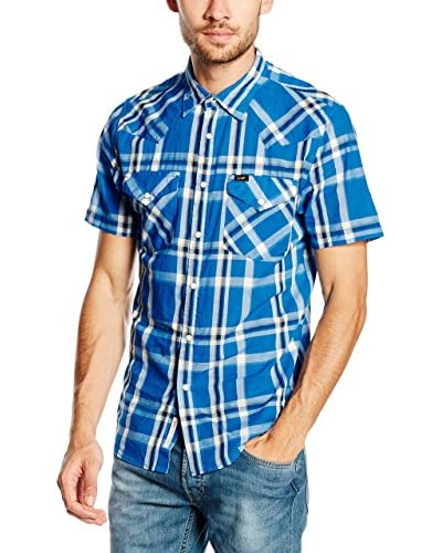 Lee Camisa Hombre Western Ss Snorkel Blue Azul