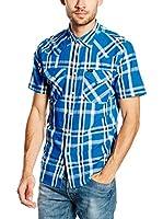 Lee Camisa Hombre Western Ss Snorkel Blue (Azul)