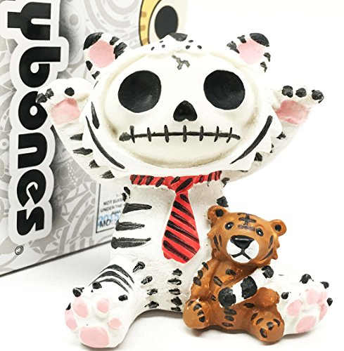 Furry Bones White Tigrrr Snow Tiger Skeleton Monster Table Top Ornament Figurine Collectible (Tabletop Skeleton compare prices)
