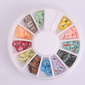 Five Season 144pcs Fimo Morceaux en Papillons Pour DIY Decorations+Carrousel