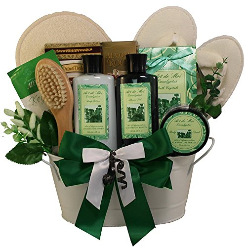 Art of Appreciation Gift Baskets Peace and Relaxation Eucalyptus Spa Bath and Body