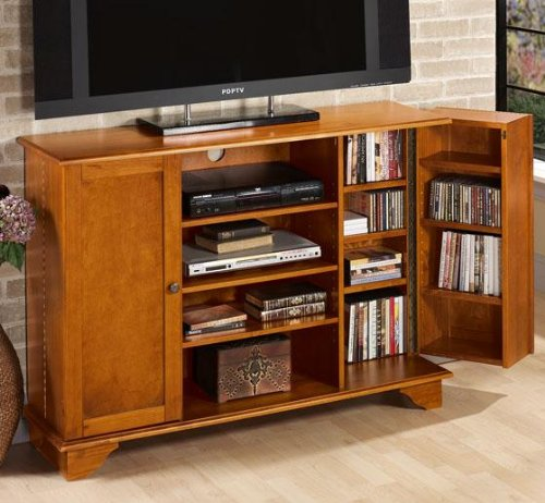 Cheap Burnham 50″w Wide screen Tv Stand With Media Storage (B001BU2SU8)