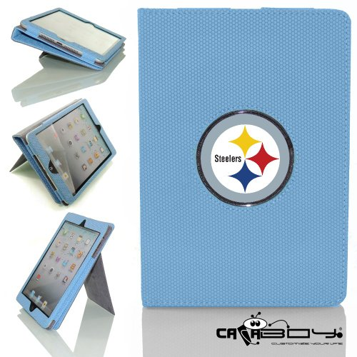 New Rubberized Tech-Grip Apple Mini Ipad & mini ipad with retina Case with SLEEP SMART by Calaboy includes Personalized picture Frame w Pittsburgh Steelers Logo (FB31) at Amazon.com