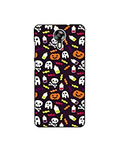 Micromax Canvas Xpress-2 Colorful-halloween-pattern-01 Mobile Case (Limited Time Offers,Please Check the Details Below)