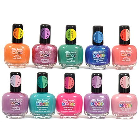Mia Secret Mood Nail Lacquer Color Changing Nail Polish 10pc Set (10 Different Colors) Full Size Nail Polish (The Mood Polish compare prices)