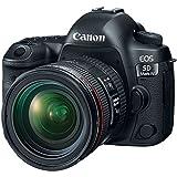 Canon EOS 5D Mark IV 4K Wi-Fi Digital SLR Camera & 24-70mm f/4L IS USM Lens + 128GB CF Card + Battery & Charger + Backpack + Flash + LED Light + Microphone Kit
