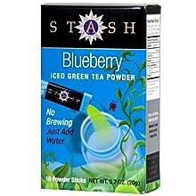 Blueberry Green Iced Tea Powder