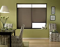 Custom Top Down Bottom Up Cordless Cell Shades, 33W x 58H, Espresso