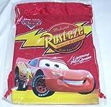 Red Disney Pixar Cars Drawstring Backpack Sling Tote Child School Gym Bag