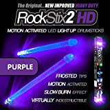 ROCKSTIX 2 HD DEEP PURPLE, BRIGHT LED LIGHT UP DRUMSTICKS, with fade effect, Set your gig on fire!