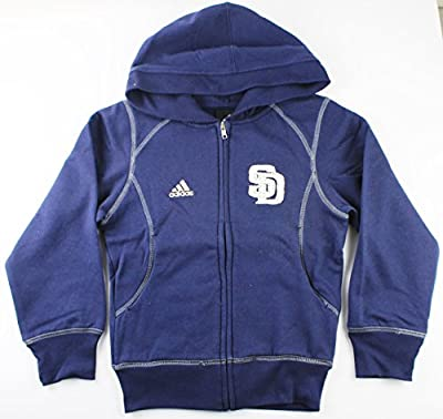 San Diego Padres MLB Girls Size 7-16 Full Zip Fleece Hoodie