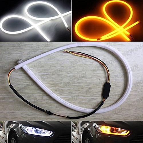 Newsun 60cm Dual Color Flexible LED Daytime Running