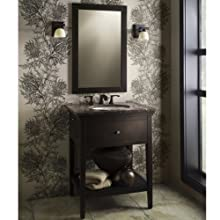 American Standard 9273.101.339 Brook Rectangular Mirror, Espresso