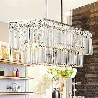 lustre en cristal rectangulaire moderne et minimaliste 10171 luminaires et eclairage. Black Bedroom Furniture Sets. Home Design Ideas