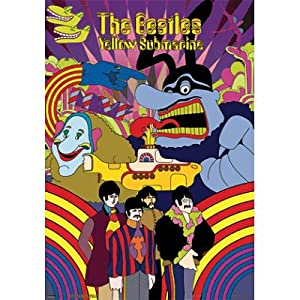 (19x27) The Beatles (Yellow Submarine) 3-D Music Poster Lenticular Print