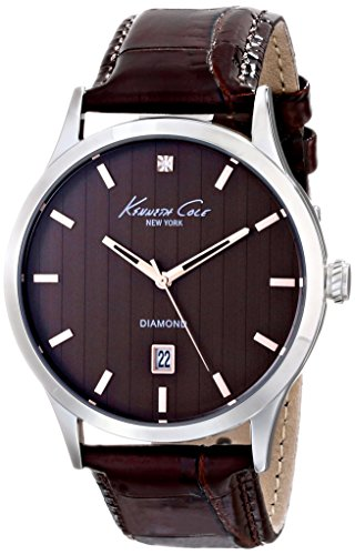 Kenneth Cole New York Three-Hand Leather - Brown Men's watch #KC8070