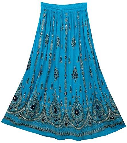 jnb-gonna-donna-turchese-terquoise-taglia-unica-per-persone-minute