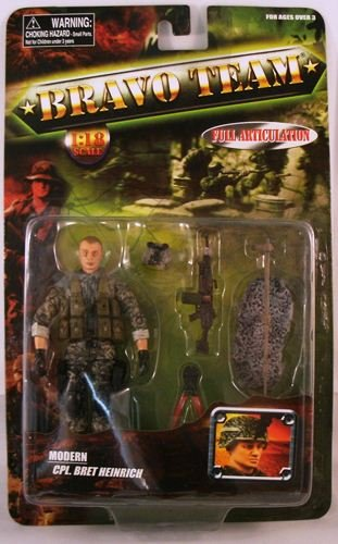 Buy Low Price Unimax Bravo Team Modern Series U.S. Army Cpl. Bret Heinrich Action Figure (B0055190FK)