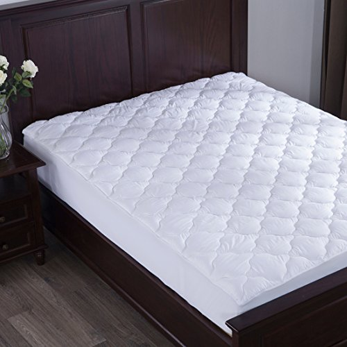 Puredown down alternative mattress pad topper fitted for Best down mattress pad