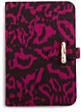 "Diane von Furstenberg Kayley Canvas Clutch for Kindle (Fits 6"" Display, Latest Generation Kindle), Ikat Berry"