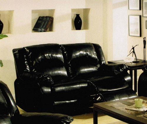 Buy Low Price Acme Recliner Loveseat Sofa in Black Bycast Leather (VF_AM5936PU)