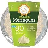 Vanilla Meringue Cookies 4oz Tub by Krunchy Melts (113 grams)