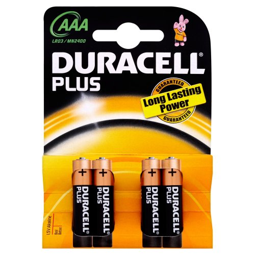 Duracell - Pile Alcaline - AAA x 4 - Plus (LR03)