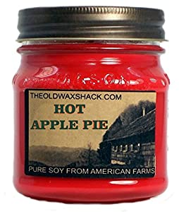 Hot Apple Pie Soy Candle - Seasonal Soy Candle - 8 Oz. Mason Jar