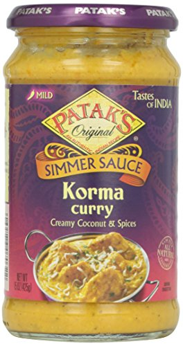 Patak's Korma Sauce, 15 oz (Coconut Curry Simmer Sauce compare prices)