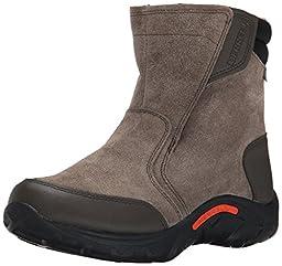 Merrell Jungle Moc Waterproof Cold Weather Boot (Little Kid/Big Kid), Gunsmoke, 3 M US Little Kid