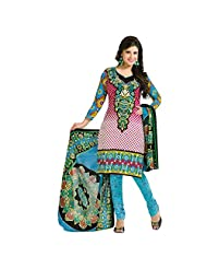Siddhi Cotton Multicoloured Printed Salwar Suit & Dupatta Material - B0173RTMQK