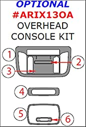 WOW Trim, Item# ARIX13OA-SNBW Acura ILX, Optional Overhead Console Overlay Kit, 6 Piece Set, Newport Burl Wood