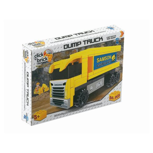 Click Bricks Dump Truck Set (84-Piece) - 1