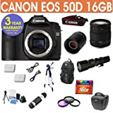 Refurbished Canon EOS 50D + Sigma 18-200 Lens + 500mm Preset Lens
