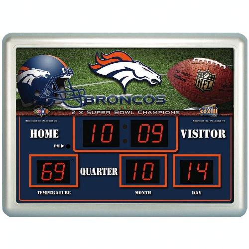 Denver Broncos Time / Date / Temp. Scoreboard