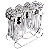 Shapes Jazz Cutlery Set Of Spoons And Fork 24 Pcs. With Round Stand