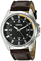 Geneva Mens FMDJM507C Analog Display Japanese Quartz Brown Watch