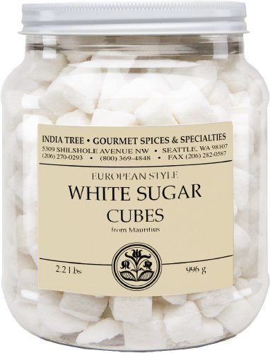 India Tree White European-Style Sugar Cubes, 2.2 lb (Pack of 2)
