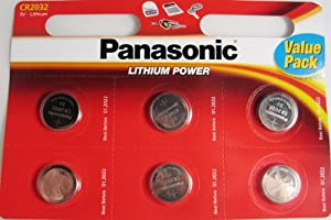 Panasonic CR2032 Battery Lithium cr-2032 3V Coin Cell pack of 6 batteries