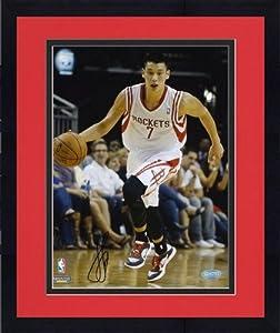 Framed Jeremy Lin Houston Rockets Autographed 8