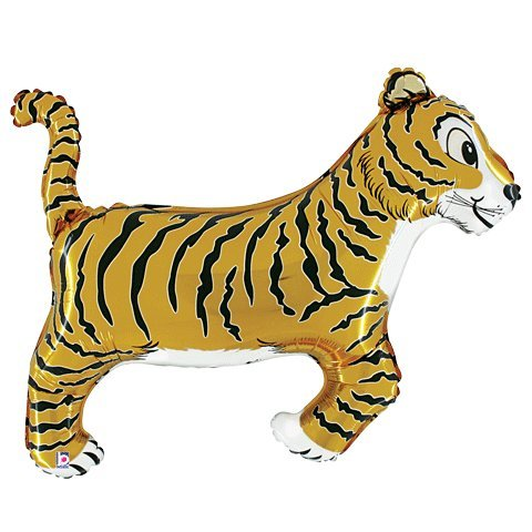 Tiger Shaped Foil Balloon - 1