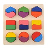 Blocs En Bois Puzzle Jouet Educatif l'Apprentissage Math...