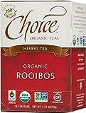 Choice Organic Caffeine Free Rooibos Red Bush Herbal Tea, 16 Count Box