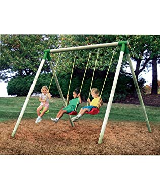 Little tikes oslo wooden swing set from mothercare the for Swing set frame only