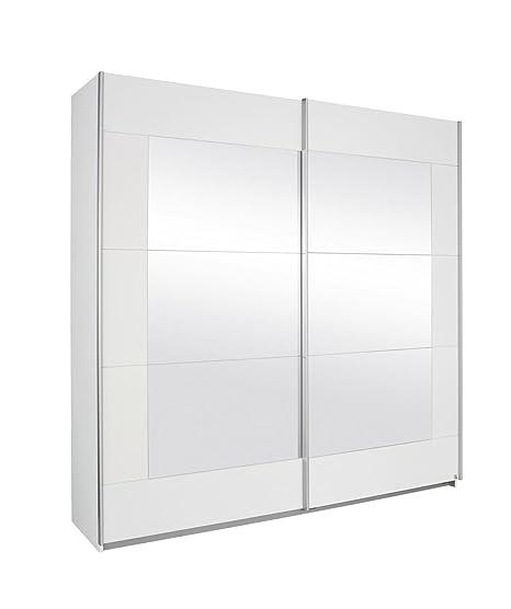 Rauch A9N01.5112 Schwebeturenschrank Alegro, 2-turig, 226 x 210 x 62 cm, Absetzung Spiegel, Front / Korpus: alpinweiß