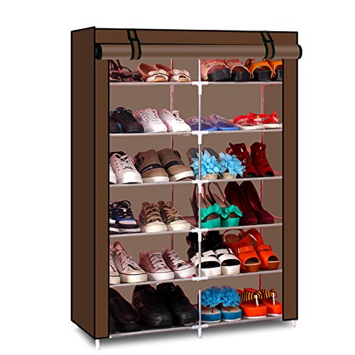 Lifeasy - 6 Tiers Portable Detachable Closet with Fabric Cover Shoe Rack Storage Cloth Shoe Organizer Cabinet (Big Shoe Organizer compare prices)