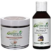 Greenviv Natural Combo Of Calendula & Chamomile Baby Massage Oil (100 Ml) With Himalayan Pink Salt & Yoghurt Body...