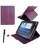"""Pourpre PU cuir Étui-support housse en pour Storex eZee'Tab1005 10.1"""" 10.1 pouce inch tablette PC + Stylet"""