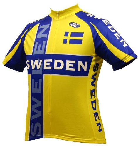 Sweden Mens Cycling Jersey bike bicycle